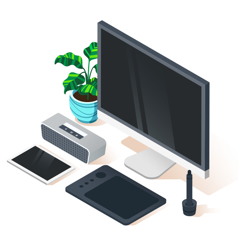 Isometric wireless homeworking technology